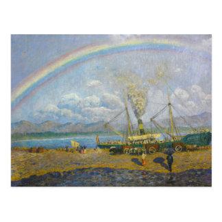 Dario de Regoyos - a chuva torrencial. Baía de Cartão Postal