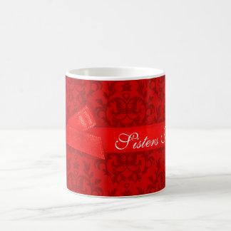 """Das """"as meninas vermelhas apaixonado do damasco caneca"""