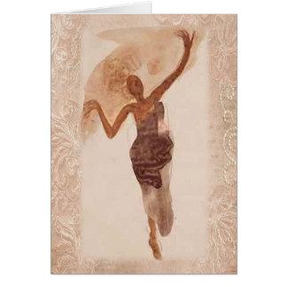 ~ das belas artes o dançarino c1906 cartão comemorativo