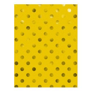 Das bolinhas metálicas da folha do ouro fundo cartão postal