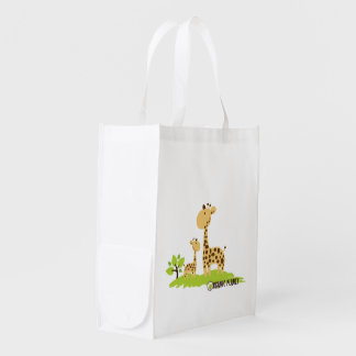 Das canvas orgânicas do planeta do girafa as bolsa sacola ecológica para supermercado