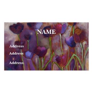 Das cartões de visitas tulipas e dos vaga-lume -