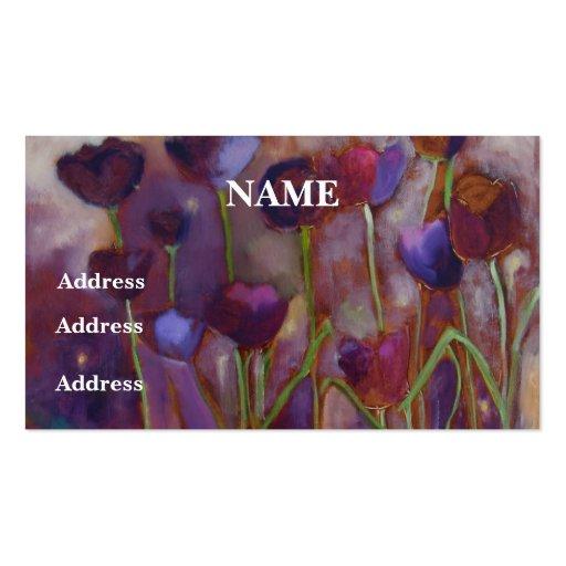 """Das """"cartões de visitas tulipas e dos vaga-lume"""" -"""
