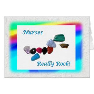 Das enfermeiras rocha realmente! cartão comemorativo