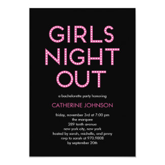 Das meninas da noite convites da festa de solteira
