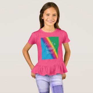 Das meninas do jogo camisa do plissado do
