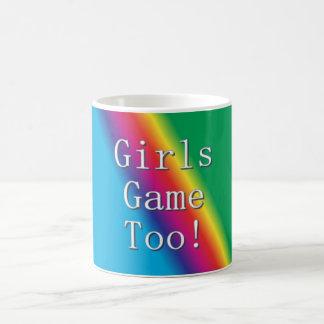Das meninas do jogo caneca do arco-íris demasiado