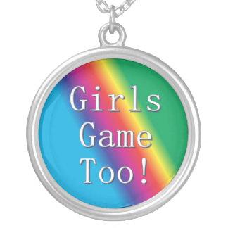 Das meninas do jogo colar do arco-íris demasiado