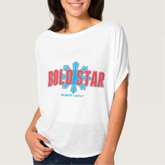 Das mulheres completas do logotipo da estrela camiseta