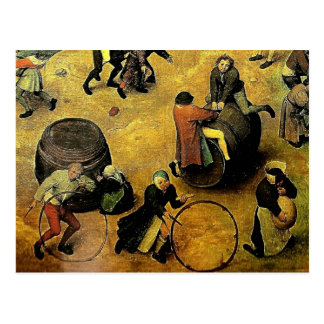 """Das """"Os jogos crianças"""" de Pieter Bruegel (detalhe Cartao Postal"""