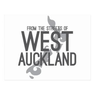 Das ruas de Auckland ocidental Cartão Postal