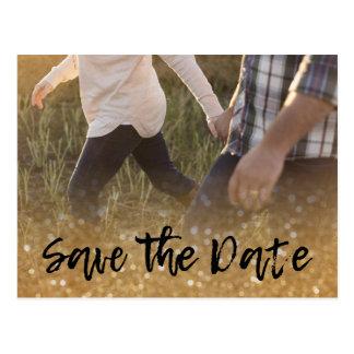 Data das economias do convite | do casamento da cartão postal