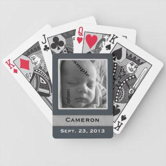 Data de nascimento nova & foto da lembrança do baralhos de pôquer