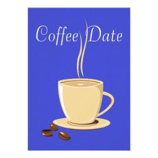 Data do café convite personalizado
