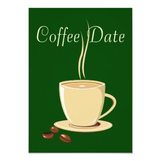 Data do café convites personalizado