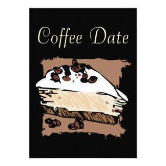 Data do café convite personalizados