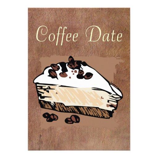 Data do café convites personalizados