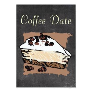 Data do café convite 12.7 x 17.78cm