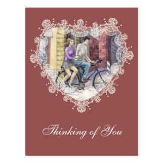 Data romântica cartão postal
