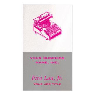 Datilografe a máquina da escrita - máquina de cartão de visita