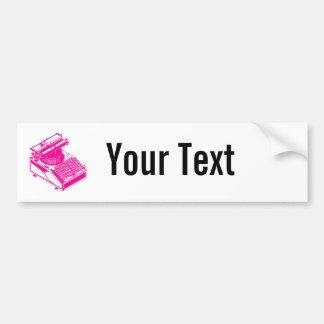 Datilografe a máquina da escrita - máquina de escr adesivo para carro