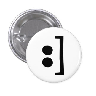 datilografe o sorriso bóton redondo 2.54cm