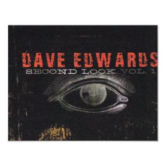 """Dave Edwards - """"em segundo olhar"""" - excursão 2007 Convite 10.79 X 13.97cm"""
