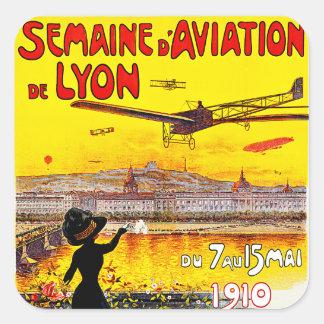d'Aviation de Lyon de Semaine Adesivos Quadrados