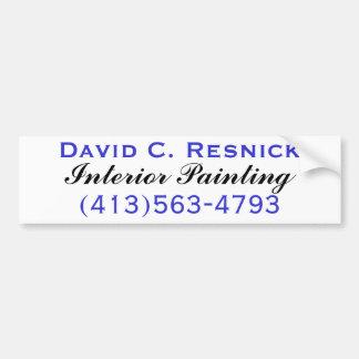David C. Resnick, pintura interior Adesivo Para Carro