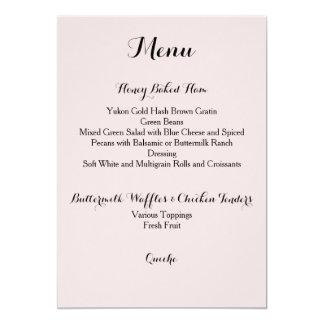 Davis + Cartão do menu do harpista