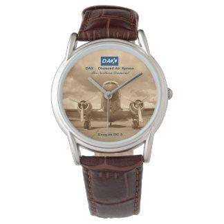 DAX - O relógio do piloto de Xpress DC-3 do ar do