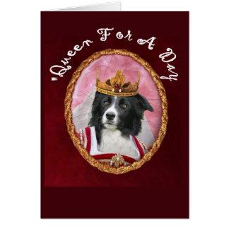 Day~Queen de border collie Notecard~Mother Cartão Comemorativo