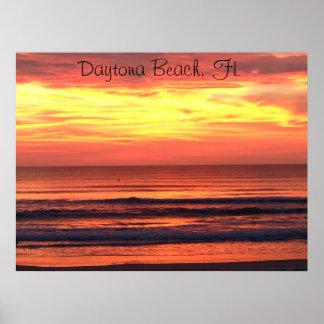 Daytona Beach, nascer do sol de FL Pôster