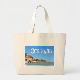 d'Azur em agradável, France de Côte Sacola Tote Jumbo