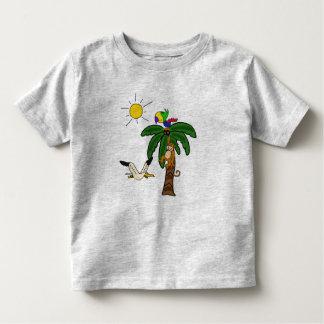 DB camisa da praia do macaco e da palmeira T-shirts