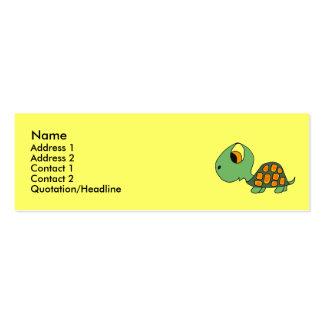 DB cartões de visitas engraçados da tartaruga