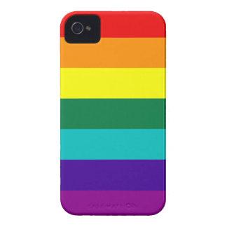 De 7 listras do arco-íris do orgulho iPhone de Capa Para iPhone 4 Case-Mate