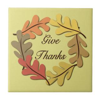 Dê a obrigados o azulejo Trivet