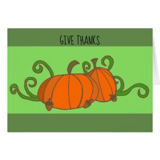 Dê a obrigados o cartão