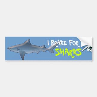 Dê a tubarões uma ruptura adesivo para carro