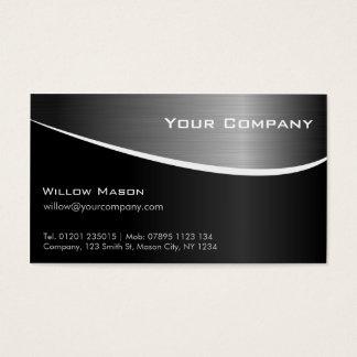 De aço inoxidável preto de GROUPON, cartão de visi