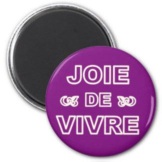 """De """"alegria francesa joie de vivre"""" da frase de ímã redondo 5.08cm"""