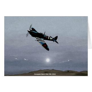 """De """"alvorecer Normandy"""" 5 de junho de 1944 Cartão Comemorativo"""