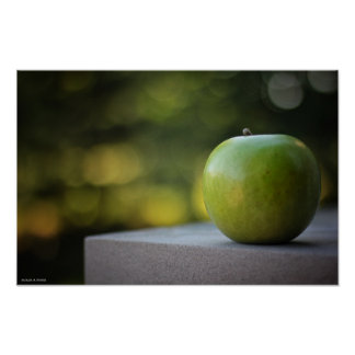 De Apple poster verde da vida ainda