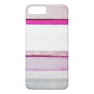 """De """"arte abstracta cor-de-rosa e cinzenta do sono capa iPhone 7 plus"""