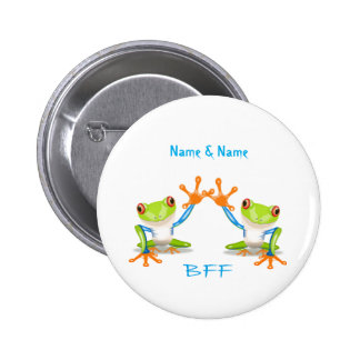 De BFF dos melhores amigos sapos para sempre Pin Bóton Redondo 5.08cm