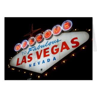Dê boas-vindas a Las Vegas ao cartão
