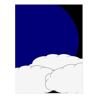 Dê boas-vindas à lua azul 2 cartões postais