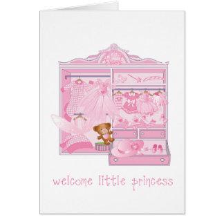 Dê boas-vindas a um pequeno, cartão com envelope