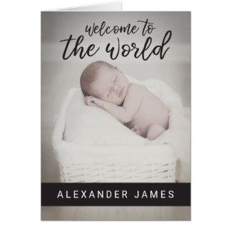 Dê boas-vindas ao anúncio do bebê do mundo |